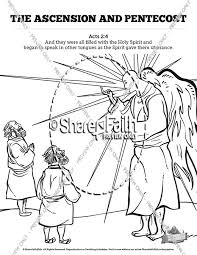 The Ascension And Pentecost Sunday School Coloring Pages