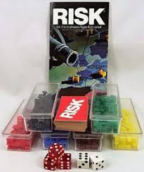 Risk Board Game Pieces Plastic Armies 44 Cards Instruction Manual Approx 1980