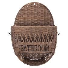 badezimmer regal bathroom oval naturrattan kleiderhaken ablage