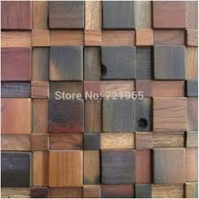 Get Quotations 3D Wood Parquet Mosaic Wall Tile NWMT124 Rustic Wooden TV Background Tiles Backsplash