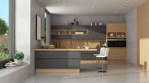 moderne schwarz holz küche mit halbinsel premium foto