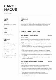 Store Manager Resume Sample Template
