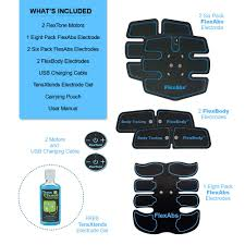 Flextone Abs Stimulator Muscle Toner - FDA 510K Cleared - Rechargeable  Wireless EMS Massager For Weight Loss - The Ultimate Electronic Power Ab ...