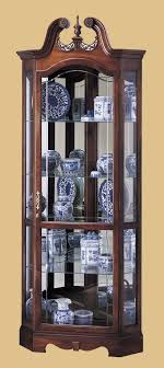 oxford black corner curio cabinet with light hm literarywondrous