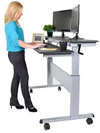 Uplift Standing Desk Australia by Amazon Com Crank Adjustable Sit To Stand Up Desk With Heavy Duty