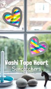 Halloween Washi Tape Uk by Washi Tape Heart Suncatcher Craft Kids Craft Room