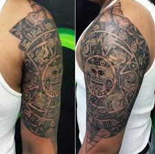 Aztec Tribal Tattoo For Men