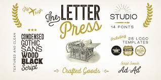 Letterpress Studio Webfont Desktop Font « MyFonts