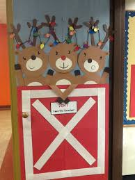 Christmas Office Decorating Ideas For The Door by Where We Keep The Reindeer Thanks To Pinterest For The Idea