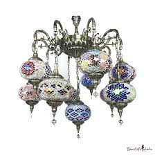 100 Art Deco Shape Hotel Lantern Hanging Light Wrought Iron 11 Lights MultiColor Chandelier