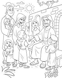 Childrens Coloring Pages Of Jesus