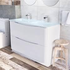 Bathroom White Double Vanity Bathroom Vanity Cabinets Without Tops