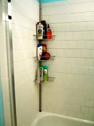 Floor To Ceiling Tension Rod Shelves by Organizing A Cluttered Bathroom Blair Blogs