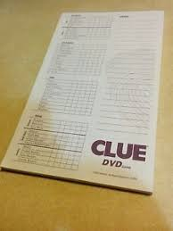 Image Is Loading Clue DVD Board Game Replacement Piece Pad