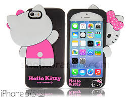 5 5s Hello Kitty 3D Hide and Seek Soft Silicone Case Limited