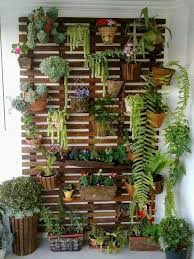 Garden Planter In Wooden Pallet Hanging Amenagement Terrace Balcony Small Space