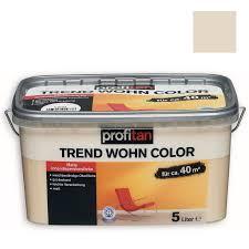profitan wandfarbe trend wohn color sand matt 5 liter