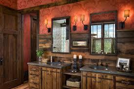 Small Rustic Bathroom Double Vanity