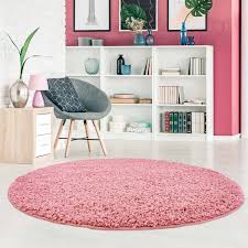 runde teppiche pastell rosa