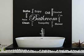 60 second makeover limited badezimmer wörter wandaufkleber zitat aufkleber schauer baden blasen kühlung seife schwarz matt regular