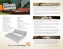 downloadable plans for a covered sandbox diy project from the home