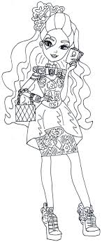 Ever After High Coloring Pages Lizzie Hearts 1