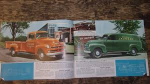 100 52 Chevy Truck 19 1954 54 Chevrolet Sales Brochure Original Manual