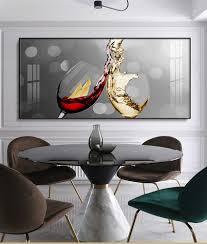 druck und poster abstrakte rotwein glas leinwand malerei esszimmer und küche wand moderne home dekoration wand kunst bilder