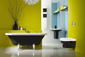 schöner wohnen badezimmer farbenfrohe badezimmer ideen