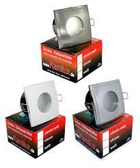 feuchtraum badezimmer downlights einbauleuchten aqua square ip65 230v gu10