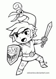 How To Draw The Minish Cap Legend Of Zelda Step 25