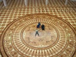 The Largest Wood Floor Medallion Built By Czar Floors Custom Hardwood Parquet
