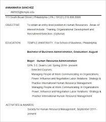 Fox School Of Business Resume Template