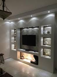 bildergebnis für tv wand trockenbau wohnzimmerdesign