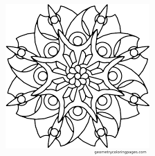 Chic Design Floral Coloring Pages Blade Flower Geometry