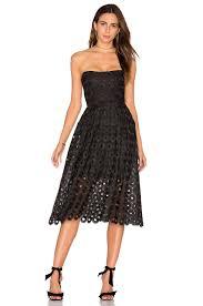 nicholas botanical lace one shoulder dress black women w nhox