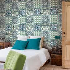 leroy merlin papier peint chambre papier peint intissé morrocan mosaik bleu leroy merlin