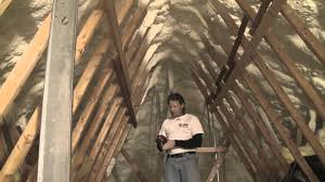 Insulated Cathedral Ceiling Panels by Insulating And Air Sealing An Attic With Spray Foam Short Version