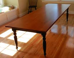 Tiger Maple Dining Room Table W Turned Legs
