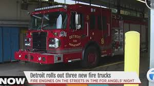 100 New Fire Trucks Detroit Department Rolls Out Three New Fire Trucks Ahead Of