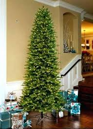 9 Ft Slim Christmas Tree Artificial Trees Feet Aspen Fir Lit Dual Color 6 Led House