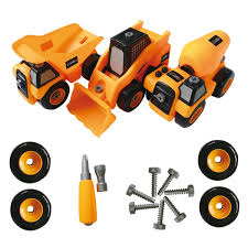 100 Construction Trucks Toy Take Apart Tool Set Best Kids Toys For Boys And Girls Age 3 8 PACK Of 3 Monster Trucks Includes A Dump Truck Concrete
