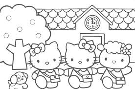 Hello Kitty Coloring Pages With Friends