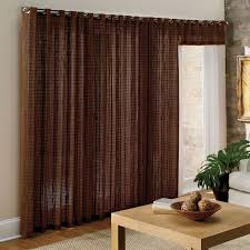 Bamboo Patio Curtains Outdoor by Wondrous Kvartal Panels Mounted Inside A Sliding Glass Door