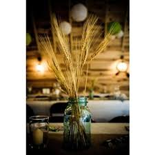 Non Floral Centerpieces With Vintage Rustic Feel Wedding Wheat