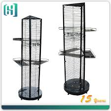 Metal 3 Sided Rotating Spinning Hook Point Of Sale Display Stand Turkey HSX S0115