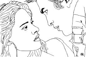 Coloriage Twilight Bella Et Edward Imprimer Sur COLORIAGES Info De