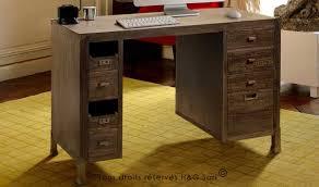 bureau contemporain bois massif bien meuble salle de bain industriel 16 bureau secretaire loft