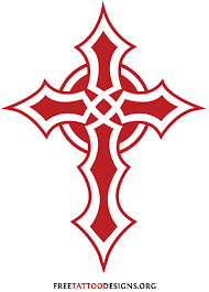 Tribal Cross Tattoo Outline 50 Tattoos Designs Of Holy