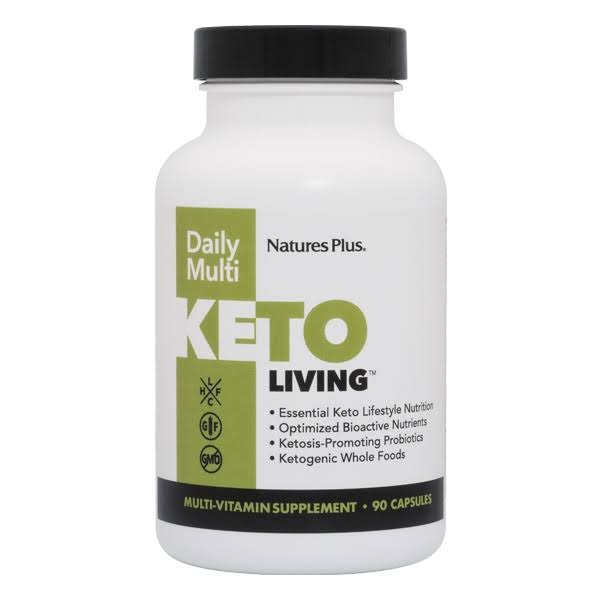 Nature's Plus Keto Living Daily Multivitamin Supplement - 90 Capsules